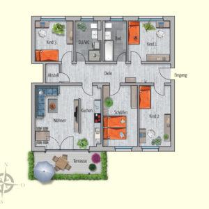 5 Zimmer Mietwohnung Merkur