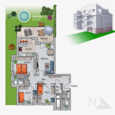 4 Zimmer Gartenwohnung Adler Chemnitz