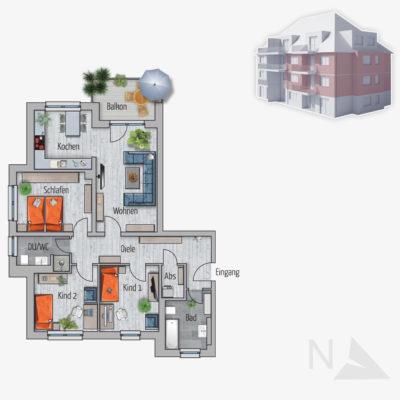 4 Zimmer Wohnung Chamäleon Chemnitz