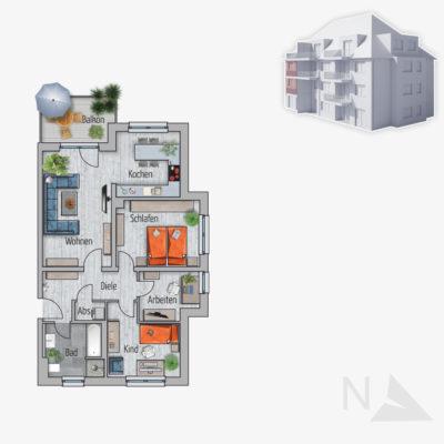 3,5 Zimmer Wohnung Fasan Chemnitz
