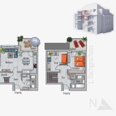 3 Zimmer Maisonette Wohnung Elefant Chemnitz