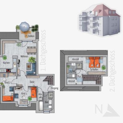 4 Zimmer Maisonette Wohnung Fuchs Chemnitz