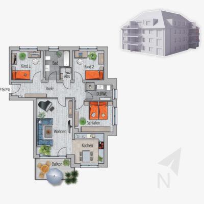 4 Zimmer Wohnung Puma Chemnitz