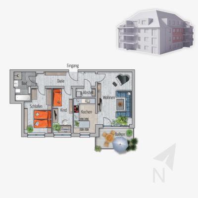 3 Zimmer Wohnung Marabu Chemnitz