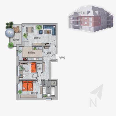 3 Zimmer Wohnung Nilpferd Chemnitz