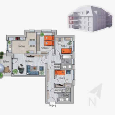 4 Zimmer Wohnung Ozelot Chemnitz