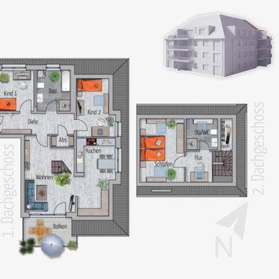 4 Zimmer Maisonette Wohnung Storch Chemnitz