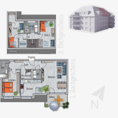 4 Zimmer Maisonette Wohnung Pelikan Chemnitz