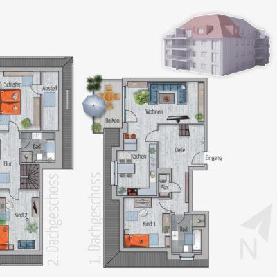 4 Zimmer Maisonette Wohnung Tukan Chemnitz