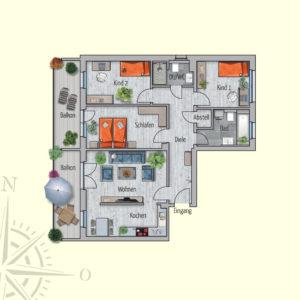 4 Zimmer Mietwohnung Jupiter