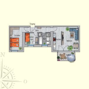 2,5 Zimmer Mietwohnung Mars