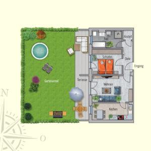2 Zimmer Mietwohnung Erde