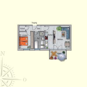 2 Zimmer Mietwohnung Kallisto