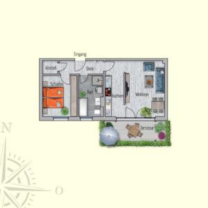2 Zimmer Mietwohnung Mimas