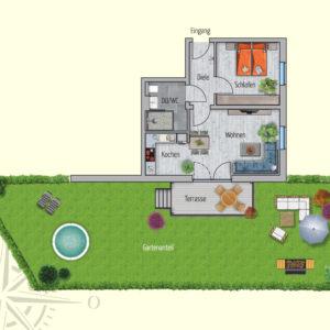 2 Zimmer Mietwohnung Miranda